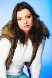 Woman in casual waistcoat. Winter fashion. Stock Photography