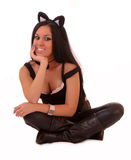 Woman cat Stock Photo