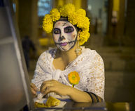 Woman, Catrina, Day of the Dead Royalty Free Stock Images