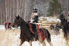 Woman cavalry Stock Photo