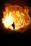 Woman in cave Stock Photos