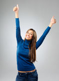 Woman celebrating Stock Images