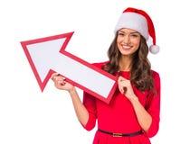 Woman celebrating Christmas Stock Photo