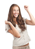 Woman celebrating her success Royalty Free Stock Photo