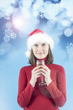 Woman celebrating New Year Stock Photography