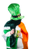 Woman celebrating Saint Patricks day Royalty Free Stock Photography