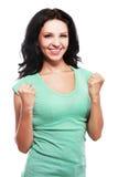 Woman celebrating success Royalty Free Stock Photos