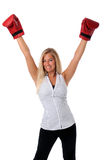 Woman Celebrating Victory Royalty Free Stock Images