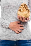 Woman with celeriac allergy Stock Photos