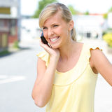 Woman with cell Stock Photo