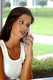 Woman on Cell. Woman on Phone royalty free stock photo