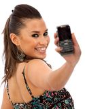 Woman with a cell phone Royalty Free Stock Image