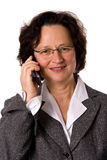 Woman with cell phone Royalty Free Stock Photography