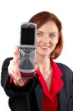 Woman with cell phone Stock Photography
