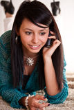 Woman with a cell phone Royalty Free Stock Photography