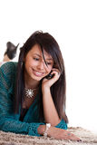 Woman with a cell phone Royalty Free Stock Images