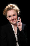 Woman on the Cell Phone Stock Photo