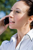 Woman on cell phone Royalty Free Stock Image
