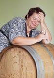 Woman in cellar. Stock Photo