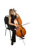 Woman cellist Royalty Free Stock Photo