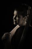 Woman with cello Stock Photo