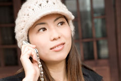 Woman with cellphone Stock Photos