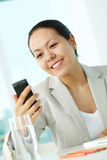 Woman with cellphone Stock Image
