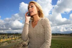 Woman on cellphone Royalty Free Stock Photos