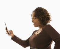 Woman with cellphone. Stock Image