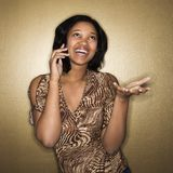 Woman on cellphone Stock Images
