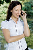 Woman cellphone Royalty Free Stock Image