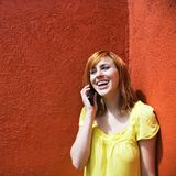 Woman on cellphone Royalty Free Stock Photography