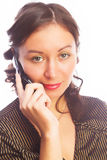 Woman with a cellphone Royalty Free Stock Photography