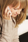 Woman on cellphone closeup Stock Photos