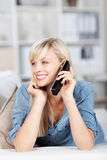 Woman with cellphone Royalty Free Stock Photos