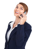 Woman with cellular Royalty Free Stock Photos