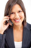 Woman with cellular Stock Image