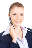 Woman with cellular Royalty Free Stock Images