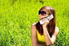 Woman with cellular Stock Photos