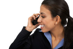 Woman with cellular Stock Images