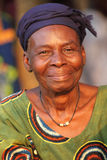 Woman at an ceremony in Benin royalty free stock images