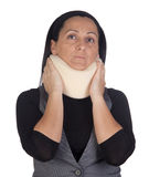 Woman with cervical collar Stock Photography