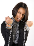 Woman in chains Royalty Free Stock Images