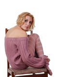 Woman on a chair Royalty Free Stock Photo