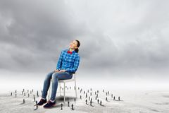 Woman in chair Royalty Free Stock Photo