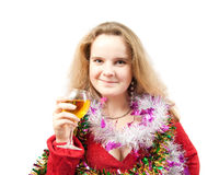 Woman with champagne Royalty Free Stock Images