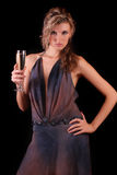 Woman with  champagne Stock Photo