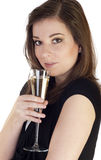 Woman with champagne Stock Image