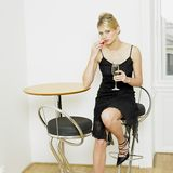 Woman with champagne Royalty Free Stock Image