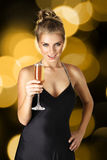 Woman with champagne Royalty Free Stock Photos